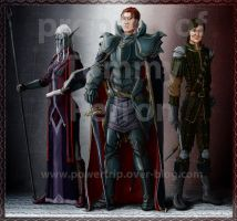 The young emperor and his trusted lieutenants by TomXaros