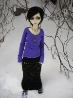Lenore in the Snow by StonerKitty