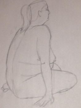 31 Day Challenge - Day 22 Life Drawing by bluebuterflyef