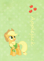 Applejack Retro Poster by automaticlolXD