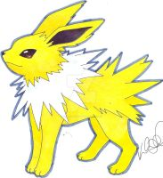 Jolteon by Kellalizard
