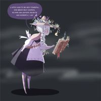 The witch and the ghost - GIF by SilviaVanni