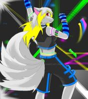 Kia the raver .:blue:. by KiaTheWolf