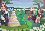 Lime Dream's birthday party ((CM)) by Drawing-Heart