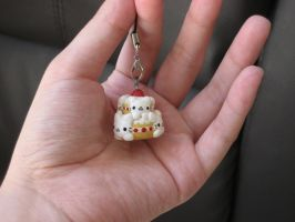 Nyan Nyan Nyanko Strawberry Double Tier Cake Charm by kneazlegurl125
