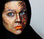 Mosaic Face Paint by larahawker