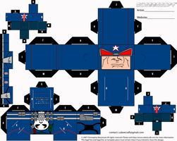 Captain Punisher Cubee by ManosHandsofFate