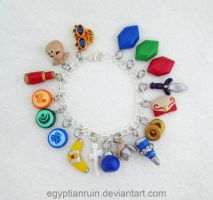 Legend of Zelda Windwaker Charm Bracelet by egyptianruin