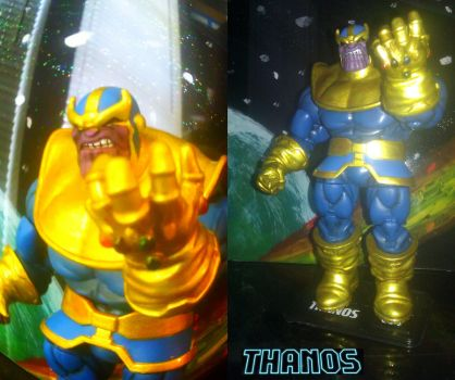 Thanos custom painted figure by jjkalleck
