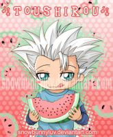 Toushirou Watermelon by snowbunnyluv