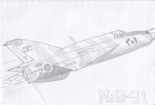 Desert Fishbed (Egyptian MiG-21) by nynaiqmal90