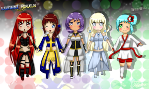 Lucent Souls Chibis by EarthJolly