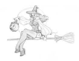 102914 Just a cute witch by JohnRose-Illustrator
