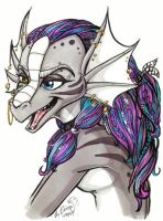 Color ref. for dragon costume by lizardbeth