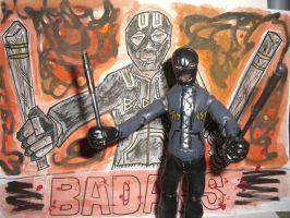 BAD ASS ACTION FIGURE with poster 02 by ztenzila