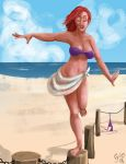 Cassandra at the beach by Renacido