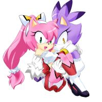 AMY and BLAZE by GaruGiroSonicShadow