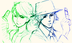 Philippe and Shoutarou by HystericalParoxysm09