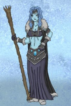 Ohma the frost giantess by SlumDarklord