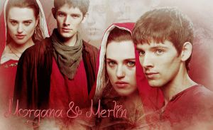 Merlin and Morgana by miu05