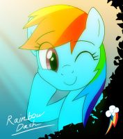 MLP: Rainbow Dash by DeannART