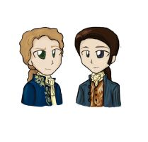 Louis and Lestat: Art Trade by ChibiLuver555