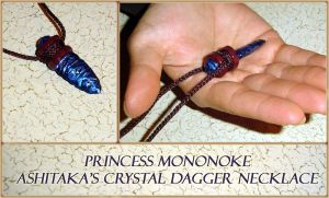 Princess Mononoke Hime - Crystal Dagger Necklace by YellerCrakka