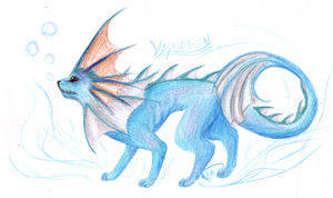 Vaporeon by CheezieSpaz