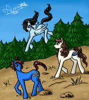 Ponies friends color by Auriaslayer