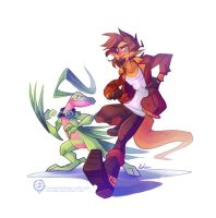 Pokemon Commission - J-Ruivi and Grovyle by mmishee