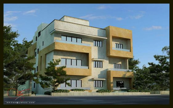 Residential Building 02 by mh2aa