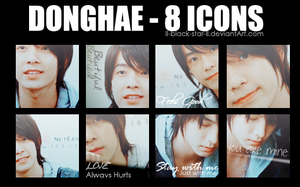 Donghae 8ICONS by ll-black-star-ll