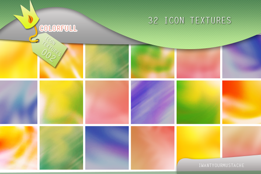 32 Colorfull icon textures by iwantyourmustache