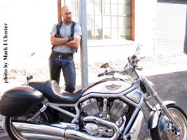 my bike and me on Folsom in San Francisco 2009 by Mark-D-Powers