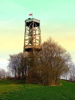 Observation tower in vivid colors by patrickjobst