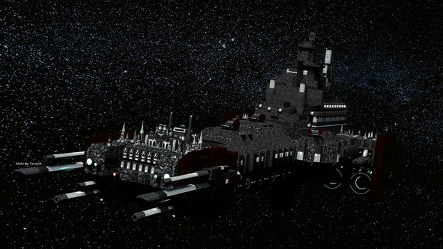 Warhammer 40k Battle Barge Wallpaper by taumich