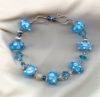 The Blues Lampwork Bracelet by tiannei