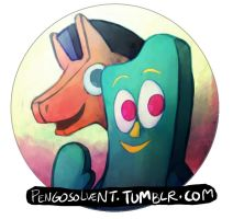 gumby button by pengosolvent