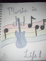 Music is life by Gleek2015