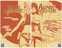 Alembic Grimoire poster pair by AphexAngel