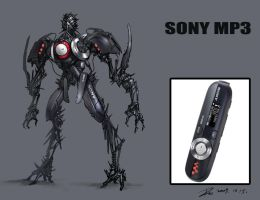 Transformer- Sony MP3 by Dio-Dong