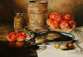 Still life with fish..inspired by Edward Chalmers by peelonika