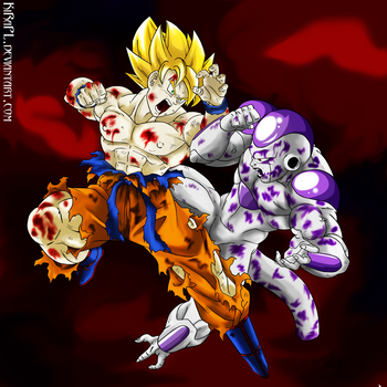 Sacrifice - Son Goku VS Freezer by KiRaPL