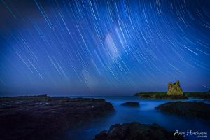 Cathedral Rocks Star Trail by andyhutchinson