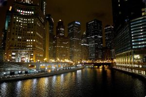 lights of the chicago river 2 by sethlamden