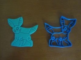 Umbreon Cookie Cutter 02 by B2Squared