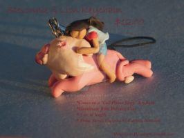 Stevonnie and Lion Keychain/Cellphone Charm (Buy!) by Wintaria