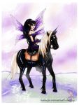 Dark Faery and the Horse by Kadajo