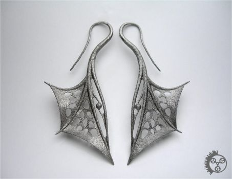 Wing Earrings - Pair by improbablecog