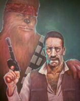 Han Trejo and the Chewbacabra by GraphicGeek
